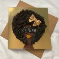 Afro Beauty Greeting Cards